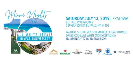 10th Annual Miami Nights All White Affair tickets