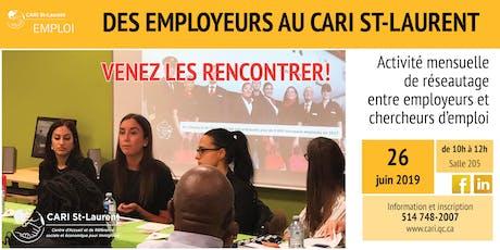 Rencontre de réseautage entre employeurs et chercheurs d'emploi billets