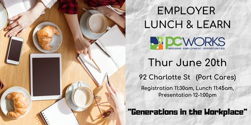 """Employer Lunch & Learn - """"Generations in the Workplace"""""""