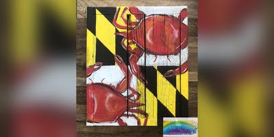 Crab Flag: Kent Narrows, Harris Crab House with Artist Katie Detrich!