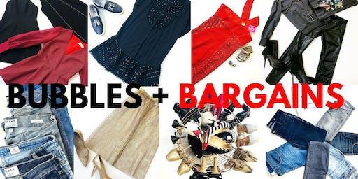 Pre-loved Designer Fashion Sale- Bubbles + Bargains!