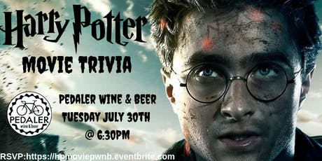 Harry Potter (Movie) Trivia at Pedaler Wine & Beer  tickets