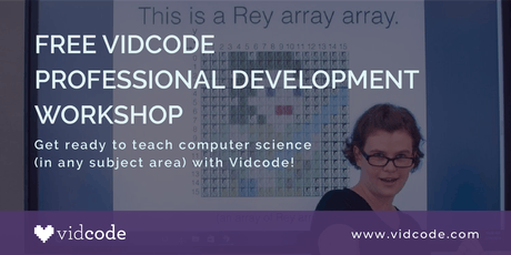 Free Vidcode Professional Development Workshop - NYC tickets