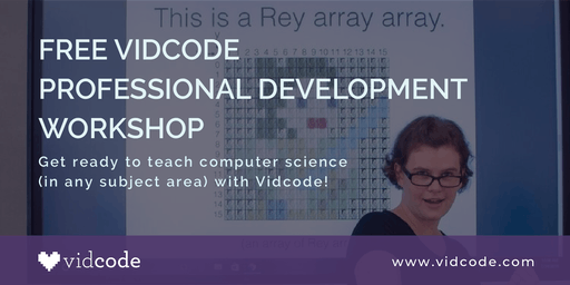 Free Vidcode Professional Development Workshop - NYC