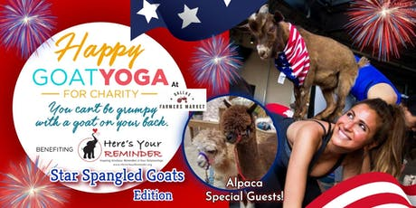 Happy Goat Yoga: Star-Spangled Goats w/ ALPACAS at Dallas Farmers Market tickets