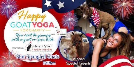 Happy Goat Yoga: Star-Spangled Goats w/ ALPACAS at Dallas Farmers Market tickets