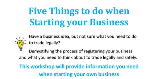 5 Things to do When You Start a Business