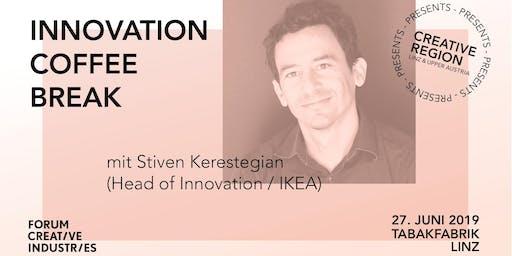 INNOVATION COFFEE BREAK: LIFE-CENTRED DESIGN mit Stiven Kerestegian