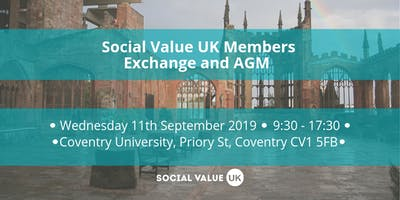 Social Value UK Members Exchange and AGM