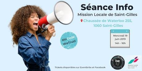 Session d'information @Mission Locale de Saint-Gilles tickets