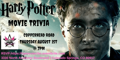 Harry Potter (Movie) Trivia at Copperhead Road Bar & Nightclub