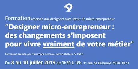 Formation pour designer micro-entrepreneur : des changements s'imposent pour vivre vraiment de votre métier billets