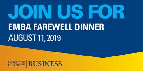 EMBA Farewell Dinner tickets