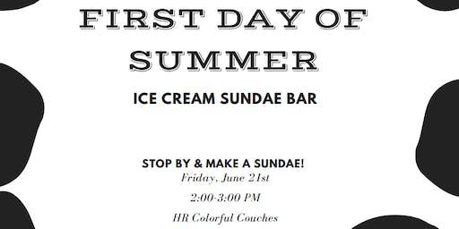 First Day of Summer   Ice Cream Sundae Bar