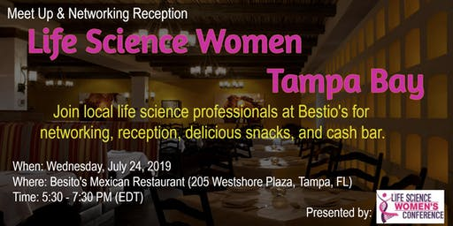 July 24th Life Science Women - Tampa Bay Networking and Reception