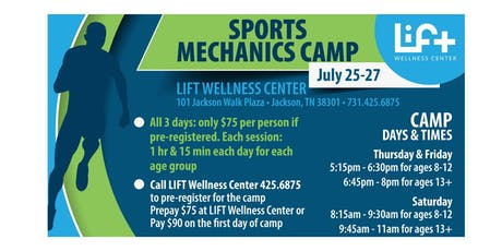Sports Mechanics Camp tickets