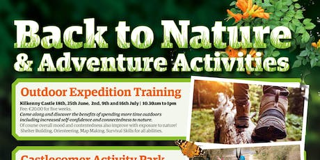 2019 Back To Nature & Adventure Activities: Castlecomer Activity Park tickets