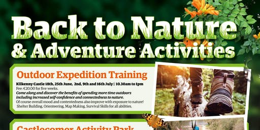 2019 Back To Nature & Adventure Activities: Castlecomer Activity Park