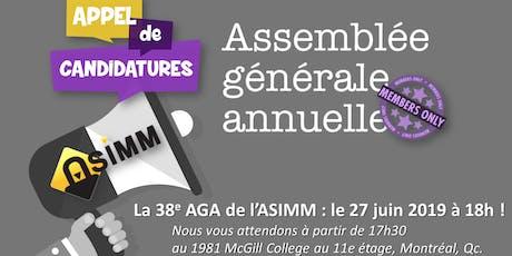 Assemblée Générale Annuelle | Asimm billets