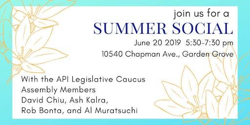 Summer Social with API Legislative Caucus