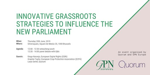 Innovative grassroots strategies to influence the new parliament