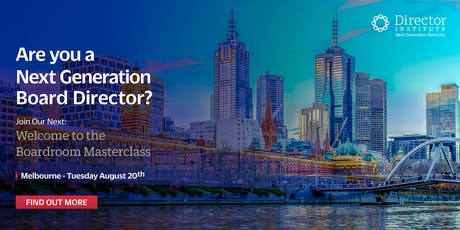 Welcome to the Boardroom Masterclass - Melbourne  tickets