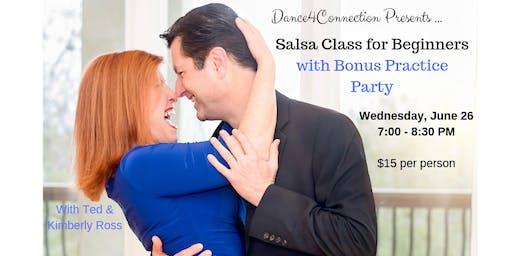 Salsa Class for Beginners + Bonus Practice Party Following Class