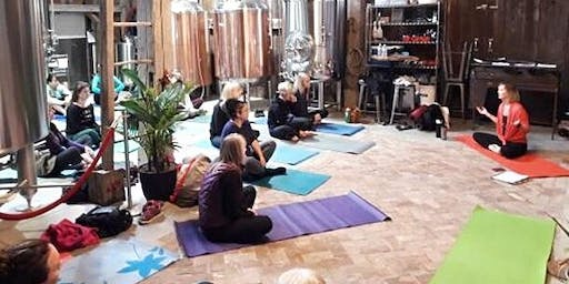 Yoga at Charlotteville Brewing Co.