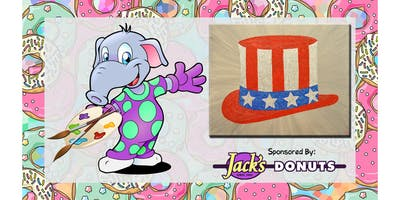 """Paint in Your Pajamas June! """"Star Spangled Hat!"""""""