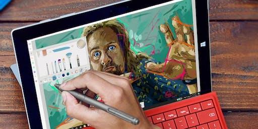 Create Digital Art with Fresh Paint: Captain Marvel Rise of a Hero