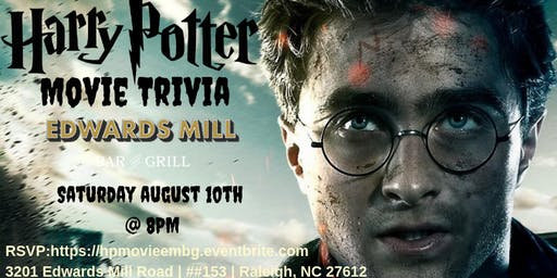 Harry Potter Movie Trivia at Edwards Mill Bar & Grill