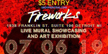 Fireworks: Live Mural Showcasing And Exhibit tickets