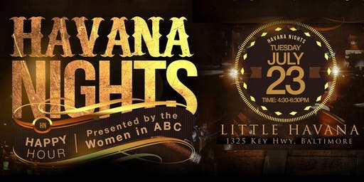 SOLD OUT - Havana Nights Happy Hour
