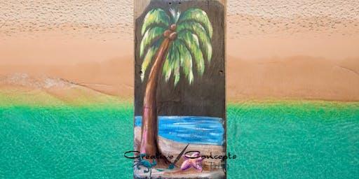 Palm Tree Slate Paint Night