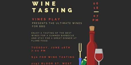Wine Tasting: The Ultimate Wines for a BBQ tickets
