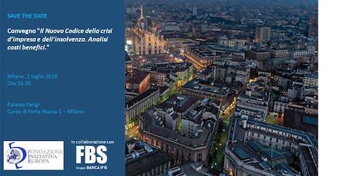 Il Nuovo Codice della crisi d'impresa e dell'insolvenza. Analisi costi benefici