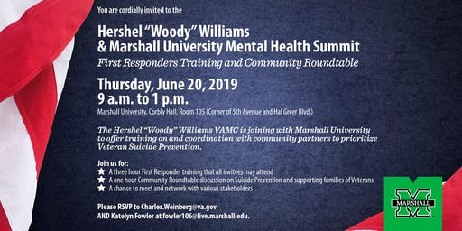 "Hershel ""Woody"" Williams  and Marshall University Mental Health Summit"