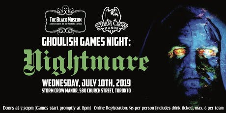 The Black Museum Ghoulish Games Night: NIGHTMARE tickets