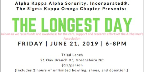 'The Longest Day' Bowling Fundraiser-AKA Sigma Kappa Omega Chapter tickets