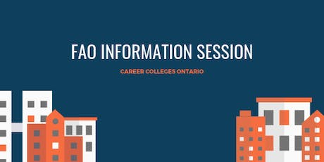 FAO Information Session tickets