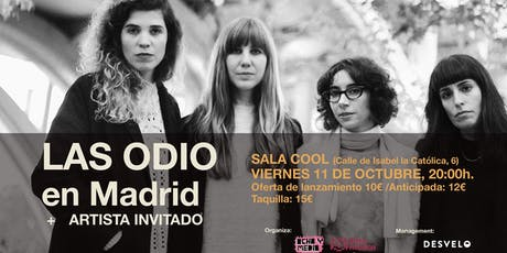 LAS ODIO en Madrid (Sala Cool) entradas