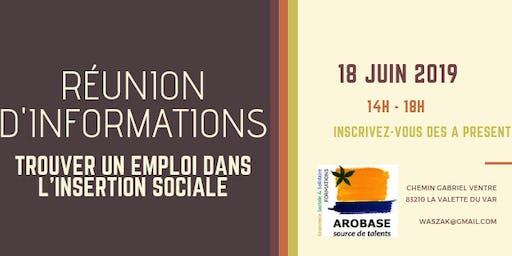 Réunion d'informations : trouver un emploi dans l'insertion sociale