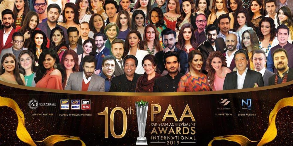 10th Pakistan Achievement Awards International 2019 Tickets, Sun 18