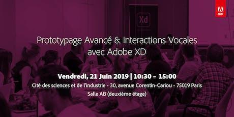 Prototypage Avancé & Interactions Vocales, avec Adobe XD billets