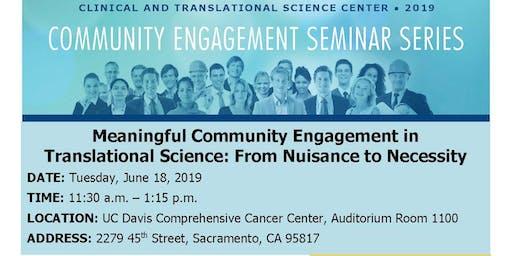 Meaningful Community Engagement Seminar