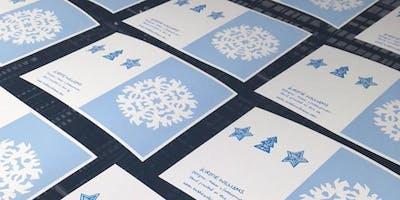 Screen Printing Christmas Cards