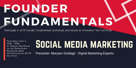 Founder Fundamentals - Social Media Marketing tickets
