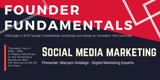 Founder Fundamentals - Social Media Marketing