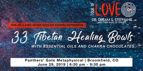 33 Tibetan Healing Bowls,Essential Oil & Chocolate Experience, Sound Healing, Broomfield, CO tickets