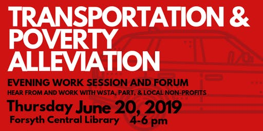 Transportation & Poverty Alleviation in Winston-Salem and Forsyth County